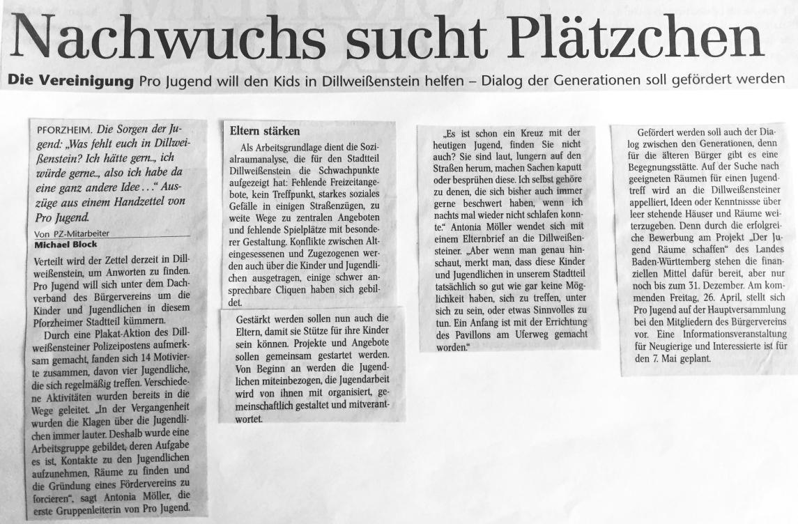 Chronik Pro Jugend | Bürgerverein Dillweißenstein